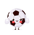 cute strong smiling happy football vector image vector image