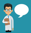 doctor professional bubble speech vector image