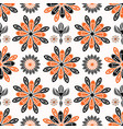 ethnic style folkart floral pattern vector image
