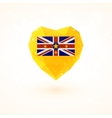 Flag of Niue in shape diamond glass heart vector image vector image