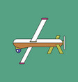 Flat icon design collection military drone