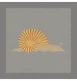 flat shading style snail vector image