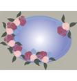 Floral rose frame vector image