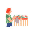 gardening plant care flat vector image