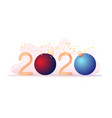 gold numbers 2020 red blue ball christmas tree toy vector image