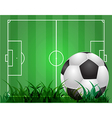 Green soccer background vector image vector image
