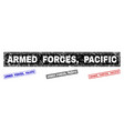 grunge armed forces pacific scratched rectangle vector image vector image