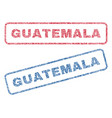 Guatemala textile stamps vector image