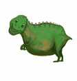 hand drawn cartoon dinosaur tyrannosaurus rex t vector image vector image