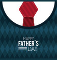 happy fathers day greeting card lettering vector image