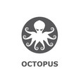 icon octopus vector image
