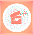 icon valentine day retro card vector image vector image