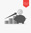 Investing growth concept icon Flat design gray vector image vector image