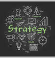 line business round strategy concept on vector image vector image