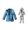 man business suit vector image