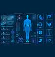 medical health care human virtual body hi tech vector image