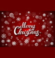 merry christmas glittering lettering design eps vector image vector image
