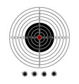 military target with set bullet holes vector image