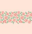 modern abstract flat roses seamless border vector image vector image