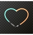 modern concept heart and lightsaber for vector image vector image