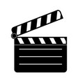 movie filming black silhouette icon vector image vector image