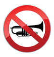 no sound sign keep quiet symbol loud sounds ban vector image vector image