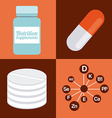 nutrition supplements vector image