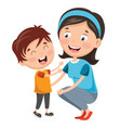 of kid with mother vector image vector image
