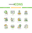 online education - line design style icons set vector image