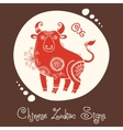 Ox Chinese Zodiac Sign vector image