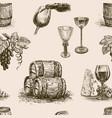 pattern winemaking vector image