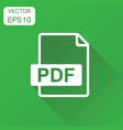pdf icon business concept pdf format pictogram on vector image vector image