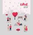 people in love characters for poster banner vector image vector image
