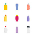 plastic bottle icon set flat style vector image vector image