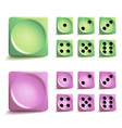 playing dice set different variants game vector image