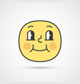 pleased emoji face with big eyes eps10 vector image vector image