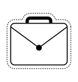 portfolio briefcase isolated icon vector image vector image