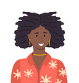 portrait beauty african young woman vector image