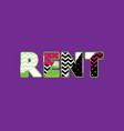 rent concept word art vector image vector image