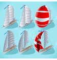 Sail Boat Set 01 Vehicle Isometric vector image vector image
