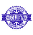 scratched textured accident investigation stamp vector image
