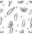 seamless pattern butterflyflipflop and vector image vector image