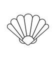 seashell linear icon vector image vector image