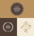 set burger package design elements vector image vector image
