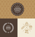 set of burger package design elements vector image vector image