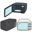 set of microwave oven vector image