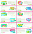 set of web pages with promo posters promotion vector image vector image