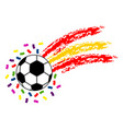soccer ball with the flag of spain vector image vector image