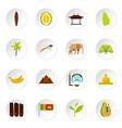sri lanka travel set flat icons vector image vector image