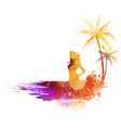 summer party watercolor background vector image vector image